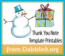 Christmas Thank You Note Template