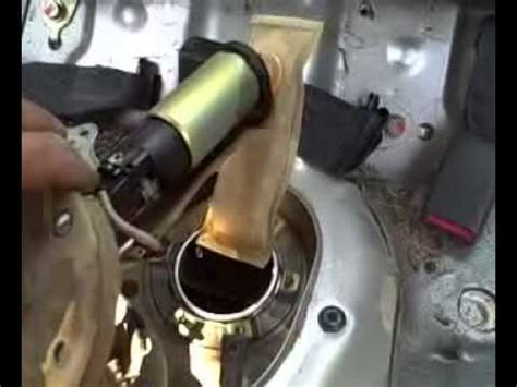 replacing  honda civic fuel pump youtube