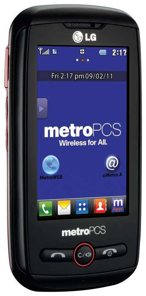 metro pc phones lg beacon prepaid phone metropcs cell