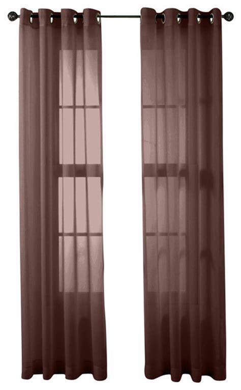 hlc me 2 sheer window curtain grommet panels