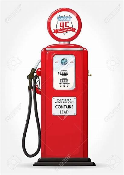 Gas Station Clipart Pump Gasoline Retro Vector