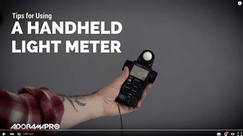 handheld light meter for photography tips for using a handheld light meter