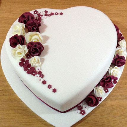divine heart cake kg vanilla gift heart shaped  whimsical flowers cake kg vanilla