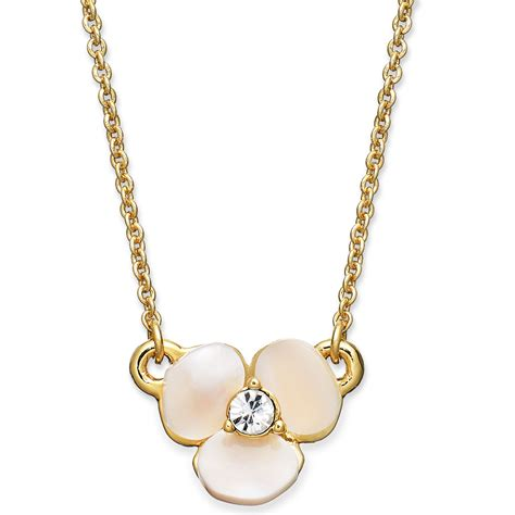 2033 kate spade flower necklace kate spade disco pansy of pearl mini pendant