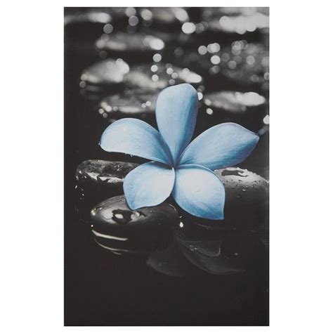 tableau fleur bleu sarcelle tableaux d 201 cor mural