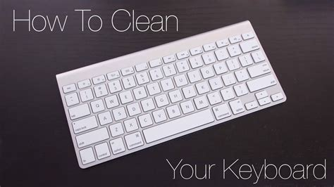 quick tips how to clean your macbook or apple keyboard youtube