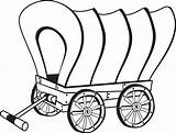 Coloring Pioneer Wagon Comments sketch template