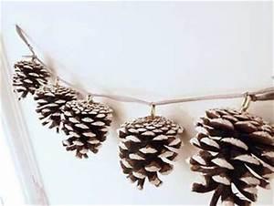 Que Faire Avec Des Pommes De Pin Pour Noel : guirlande de no l fabriquer avec des pommes de pin ~ Voncanada.com Idées de Décoration