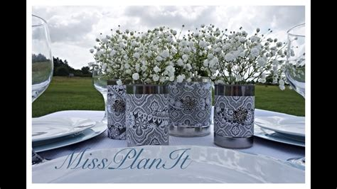 diy elegant wedding centerpieces using canned goods for