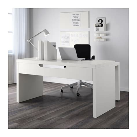 bureau malm ikea malm desk with pull out panel white 151x65 cm ikea