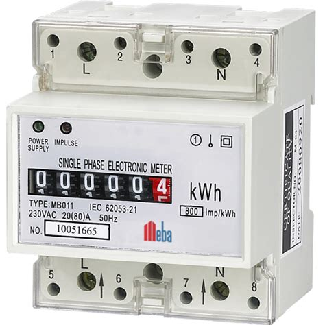 single phase electronic digital energy meter mb011