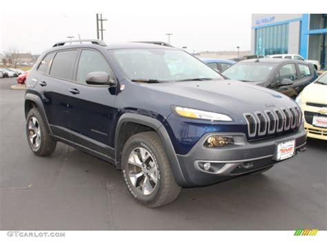 jeep trailhawk blue 2015 true blue pearl jeep cherokee trailhawk 4x4 99825678