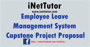 Employee Leave Management System Capstone Project Proposal