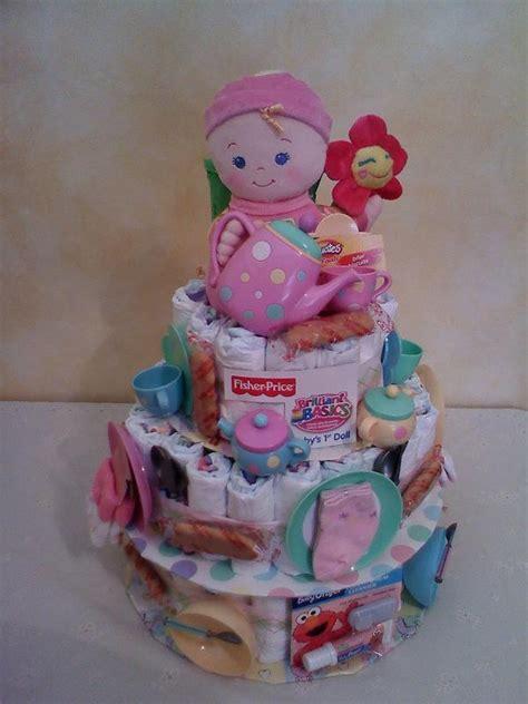 tea party diaper cake picture ideas