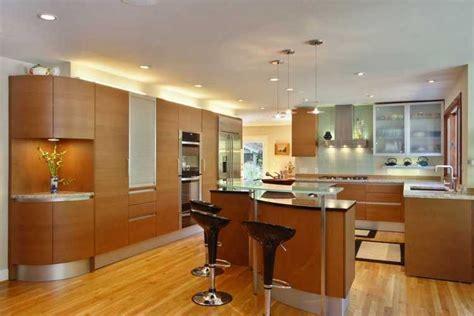 teak kitchen cabinets Kitchen Modern with Cherry wood