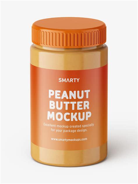 Your brand deserves peanut butter jar label mockup for presentation. Peanut butter jar mockup / top view - Smarty Mockups