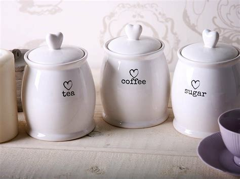 kitchen tea coffee sugar canisters charm white tea coffee sugar jars kitchen side storage