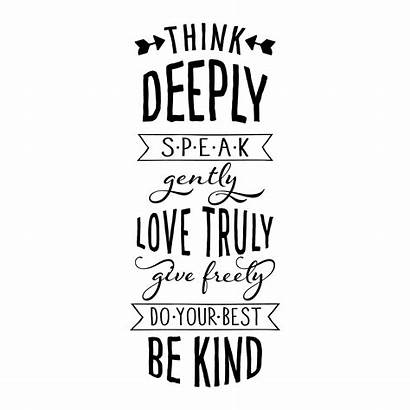 Wall Quotes Rules Decal Kind Think Deeply