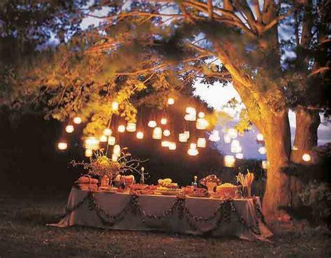 garden wedding reception at night more information module