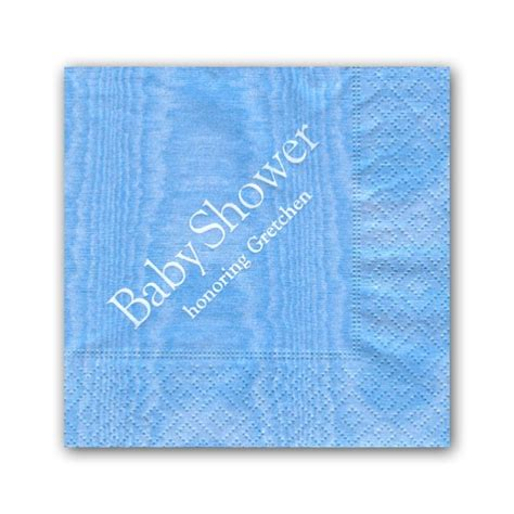 Baby Shower Blue Personalized Cocktail Napkins Paperstyle