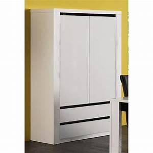 Armoire Chambre Profondeur 50 : armoire profondeur 50 cm patcha ~ Edinachiropracticcenter.com Idées de Décoration