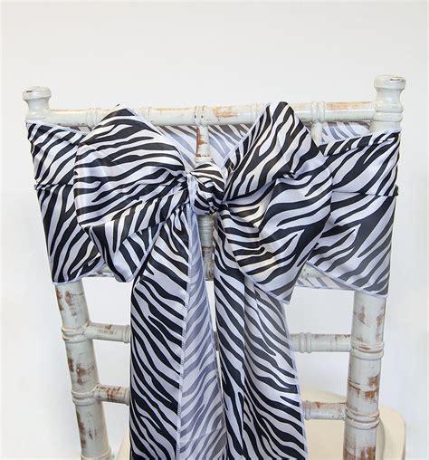 buy satin sash zebra from chair cover depot