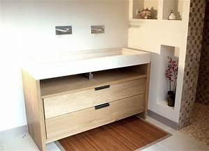 realisation de meuble de salle de bain sur mesure avec With salle de bain design avec vasque lavabo en pierre