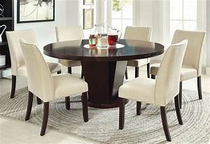 Cimma, Espresso, Round, Dining, Room, Set, From, Furniture, Of, America
