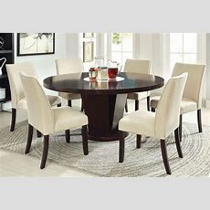 Cimma Espresso Round Dining Room Set From Furniture Of