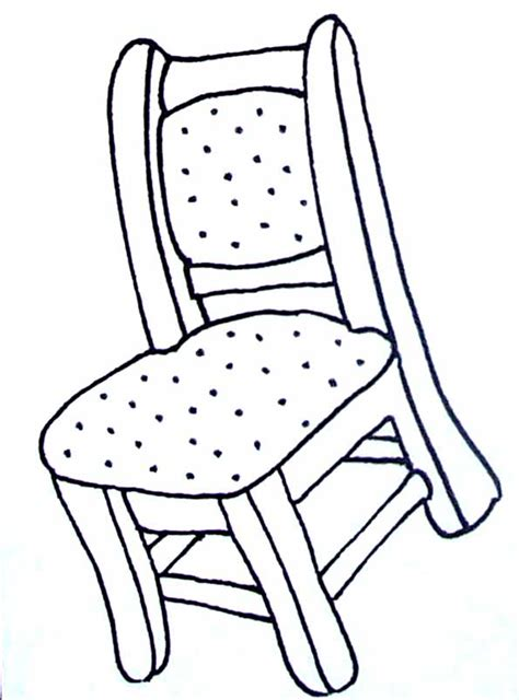 dessin d une chaise coloriages objets