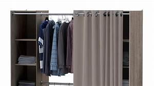 Schrank Mit Vorhang : kleiderschrank fantastic prata eiche verstellbar vorhang ~ Michelbontemps.com Haus und Dekorationen