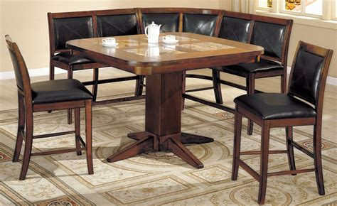 living ii counter height bench seating corner dining set