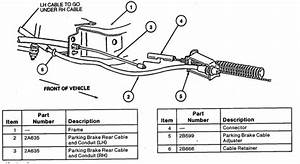 2000 Ford Explorer Emergency Brake Cable