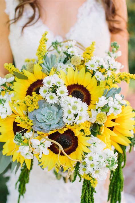 bright sunflowers succulent  daisy bouquet  perfect