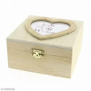 Boite En Bois : bo te carr e en bois d corer photo coeur 13 7 x 7 x 13 1 cm boite en bois d corer ~ Teatrodelosmanantiales.com Idées de Décoration