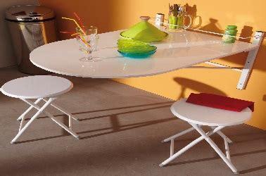 table de cuisine a fixer au mur petites tables de cuisine en 14 modèles déco gain de place