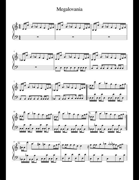 Megalovania original key clarinet by toby fox digital sheet. Megalovania sheet music for Piano download free in PDF or MIDI