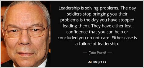 colin powell quote leadership  solving problems