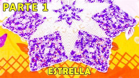 tapete en estrella tejido a crochet paso a paso video 1 youtube
