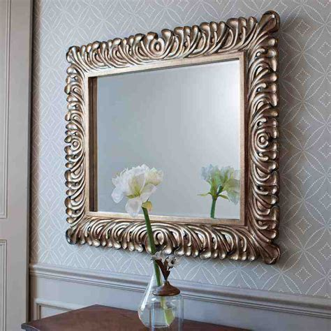 decorative silver framed wall mirror decor ideasdecor ideas