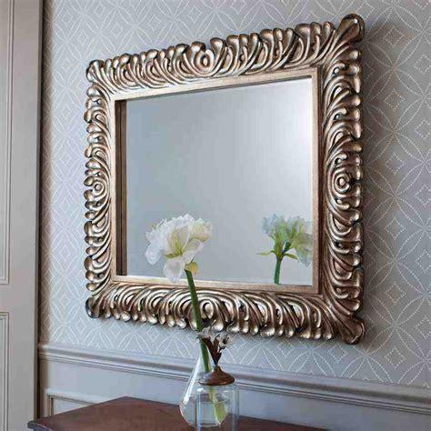 wall decor with mirrors decorative silver framed wall mirror decor ideasdecor ideas