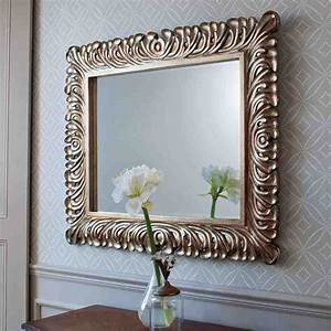 Decorative silver framed wall mirror decor ideasdecor ideas for Wall decor mirrors