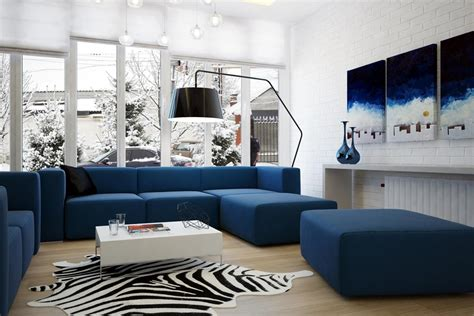 Blue Living Room Design Creating The Elegant Design