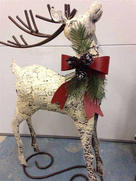 tis  season rustic  metal reindeer christmas