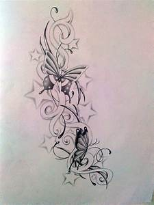 butterfly with stars tattoo designs | Butterfly and star's ...