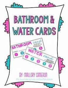 89 best images about managing bathroom trips on pinterest With bathroom pass punch card