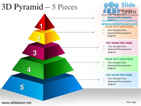 Pyramid Stacked Shapes Chart Pieces Powerpoint