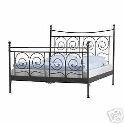 Lit Ikea 2 Personnes : cadre de lit 2 personnes acier noir ikea photo de un air ~ Teatrodelosmanantiales.com Idées de Décoration