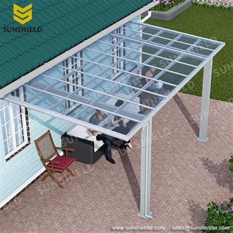 polycarbonate veranda fixed roof patio sunshield terrace