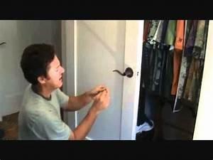 how to unlock a bedroom or bathroom door youtube With accidentally locked bathroom door